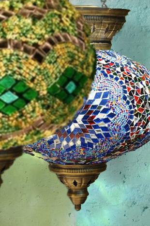 Mosaic Tables Kilim Cushion; Pouffes Blue Moroccan Table; Kilim; Mosaic  Lights